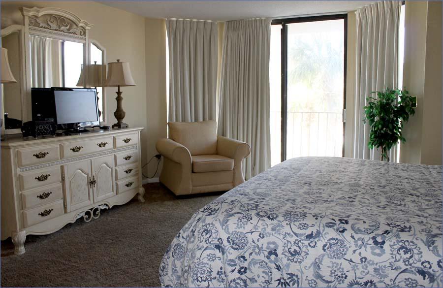 Master Bedroom Has A Personal Flat Screen TV